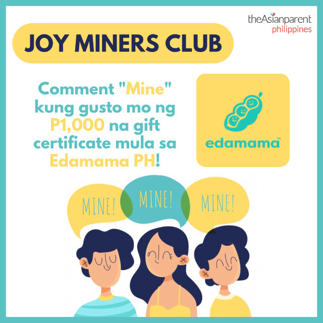 Joy Miners Club: P1,000 GC from Edamama